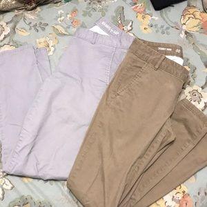 Bundle of gap skinny mini khakis. Gray and tan